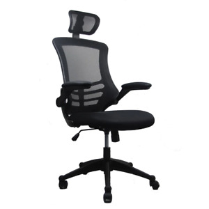 26 5 In Width Big And Tall Black Fabric Ergonomic Chair With Adjustable Height