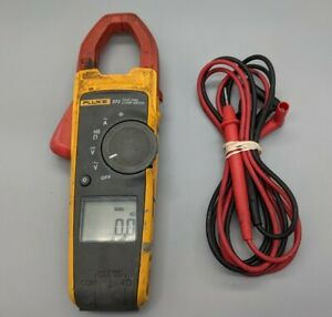 Fluke 373 True rms Ac Clamp Meter W Leads Tested Cleaned