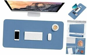 Desk Pad 30 X 14 Pu Leather Desk Mat Xl Extended Mouse Pad Navy Blue