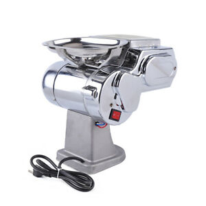 Commercial Restaurants Stainless Meat Slicer Cutter Cutting Machine Ac 110v 600w