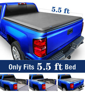 Black Soft Vinyl Lock Amp Roll Up Tonneau Cover Assembly Fit 14 21 Tundra 55 Bed