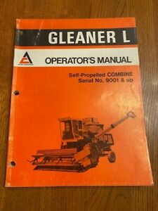 Allis Chalmers Gleaner L Operator s Manual Self propelled Combine