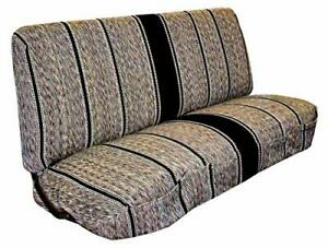 Truck Bench Seat Cover Saddle Blanket Black 1pc Full Size Ford Chevy Dodge