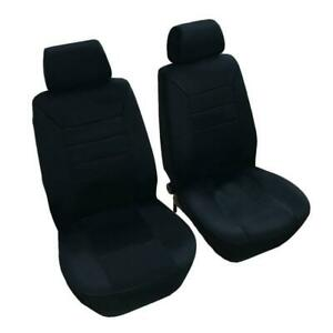 Black Flat Fabric Car Seat Covers Universal Bench Cover Low Back Seat Covers