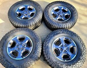 Hol 9236 17 Factory Oem 2020 2021 Jeep Gladiator Rubicon Wheels And Tires 4