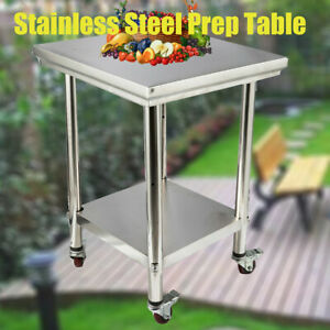 Stainless Steel 24 X 24 Prep work Table Commercial Kitchen Food Prep Table