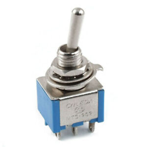 Ac 3a 250v 6a 125v 6 Pin Dpdt On on 2 Position Mini Toggle Switch Y4t7
