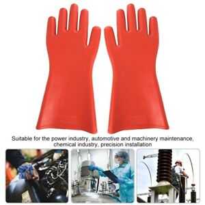 2pc 12kv Insulation Gloves Electrician Insulated Safety Protective Gloves Rubber