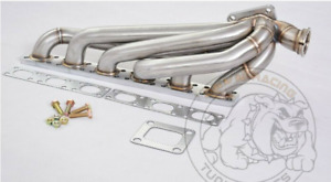 3mm Ss321 T4 Top Mount Turbo Header Manifold For Bmw E36 M50 M52 S50 S52 1992 98