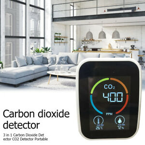 3 In 1 Co2 Meter Air Quality Monitor 400 5000 Ppm Sensor Carbon Dioxide Detector