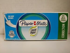 Pack Of 12 Papermate Correction Liquid Paper Fast Dry For Large Mistakes