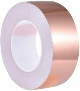 Copper Foil Tape With Conductive Adhesive For Guitar Shielding 2 X 33 Us