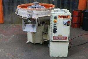 5 Cu Ft Almco Or 5c New 1998 40 Dia Round Bowl Vibratory Finisher Pane