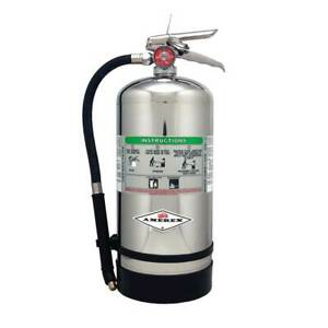 Amerex B260 6 Liter Wet Chemical Class Ak Stainless Steel Fire Extinguisher