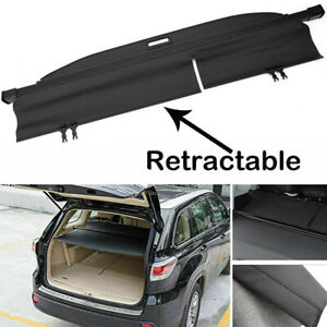 For 14 19 Toyota Highlander Retractable Rear Trunk Cargo Cover Shade Shield New