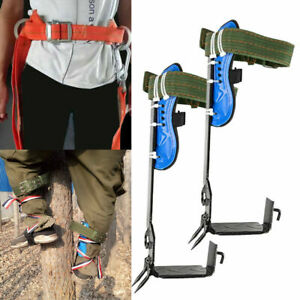 2 Gears Tree Climbing Shoes Spike Set Safety Belt Lanyard Rope Protective Belt