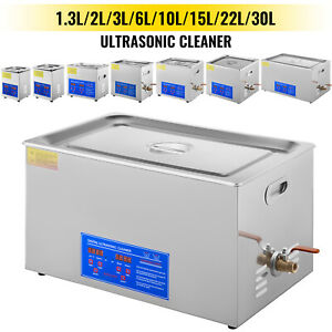 Vevor 30l Ultrasonic Cleaner Cleaning Equipment Liter Industry Heated W Timer