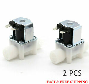 2pcs 1 2 12v Dc Electric Solenoid Valve Normally Close N c water Etc New