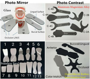 1 dental Orthodontic Mouth Mirror Intraoral Photo Contrast Background Reflector