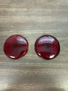 1937 38 Plymouth Glass Tail Light Lenses New Pair 721
