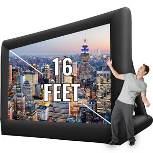16ft Inflatable Movie Projector Screen Projection Outdoor Theater W blower Usa