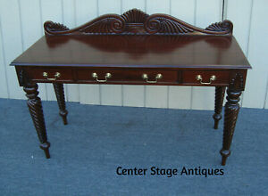 61660 Solid Mahogany Console Hall Table Stand