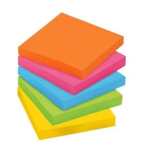 Genuine 3m Post it Brand Notes 3x3 Inch 100 Sheet Pad Choose From 5 Colors