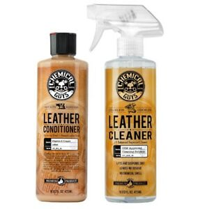 Chemical Guys Leather Cleaner And Conditioner Complete Leather Care Kit 16 Oz