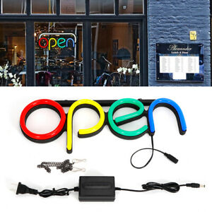 16 Led Open Sign Neon Light Bright For Restaurant Bar Shop Store Club Business