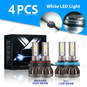 2 Sides Led Headlight Bulbs Conversion Kit 9005 H11 High Low Beam Bright White Fits 6