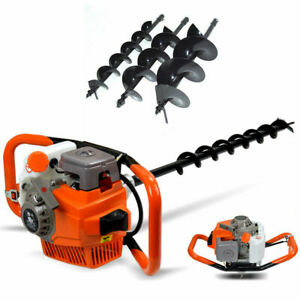 71cc Post Hole Digger Gas Powered Earth Auger Borer Machine W 4 6 8 Bits