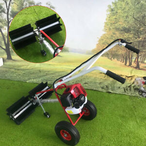 43cc Gasoline Powered Sweeper Handheld Cleaning Cart For Driveway Industrial