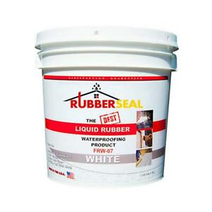 Rubberseal Rubberized Coatings 1 Gal White Liquid Rubber Covers 60 Sq