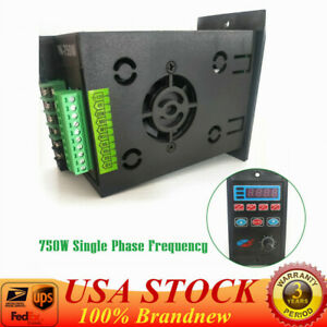 Single Phase To Three Phase Output Frequency Converter Drive Inverter 220v