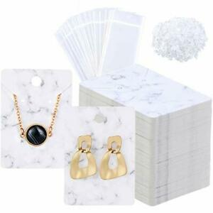 800 Pieces Marble Earring Necklace Display Card Holder Set 200 Pieces Jewelry 2