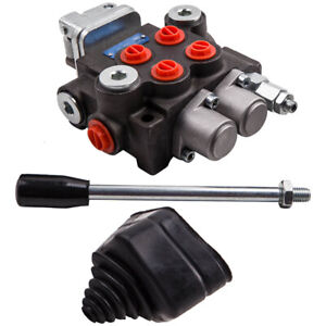 2 Spool Hydraulic Directional Control Valve Adjustable 11gpm For Small Tractor