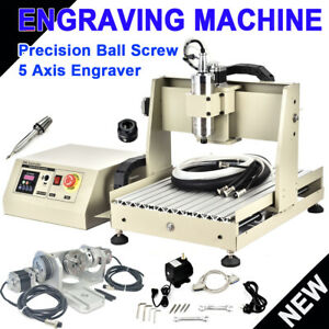 5 Axis 3040cnc Router Engraver 3d Cutter Vfd Drill Carving Milling Machine 800w
