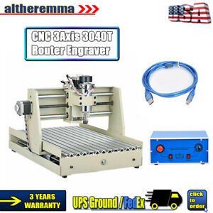 Usb 3 Axis Router 3040 Cnc Engraver Wood Engraving Drill Milling Machine 400w
