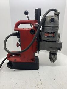 Milwaukee Mag Magnetic Drill Press 4203 Base With 4262 1 Motor 3 4 Capacity