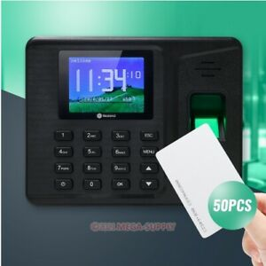 Remote Access Biometric Fingerprint Attendance Time Clock With Rfid Card Reader