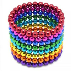 222pcs Magnetic Beads Balls Sticky Beads Adult Magnets 5mm 6x Colors Sets