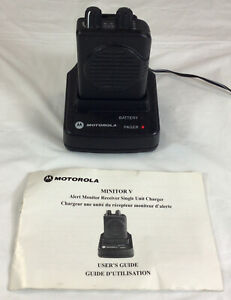 Motorola Minitor V Low Band Fire Ems Pager With Charger Free Shipping