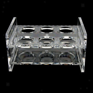 6 hole Clear Plastic Shot Glass Holder Rack Drinking Party Bar Serving Tray