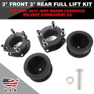 Fit For 2006 2010 Jeep Commander 3 Front 2 Rear Full Steel Lift Leveling Kit Fits Jeep Commander