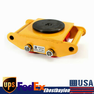 Heavy Duty 360 Machine Dolly Skate Machinery Roller Mover Cargo Trolley 6t Usa