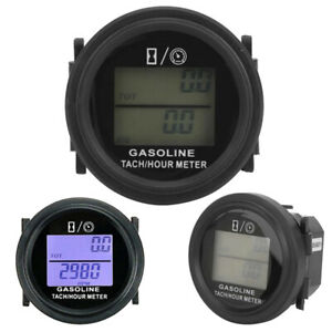 Motorcycle 2 4 Gasoline Engine Tachometer Tach Hour Meter Lcd Backlight Display