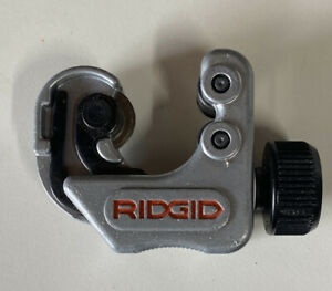 Ridgid 118 Tube Cutter 1 4 To 1 1 8 Inch Pipe Cutter Used Nice
