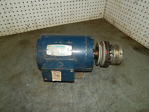 Leeson 120011 01 C145t17db1a Motor 1 1 2 1 5 hp 1740rpm With Air Champ Clutch