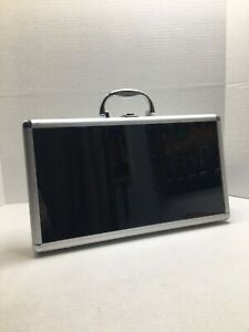 1 only 8 1 2 X 15 X 2 Aluminum Display Case Glass Front