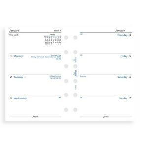 2022 Filofax Pocket Week On Two Pages Diary calendar 68221